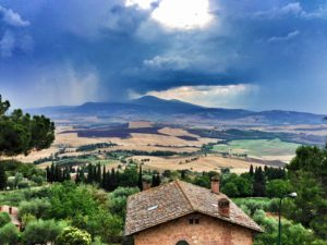 Looking out over the Tuscan Countryside, Italy